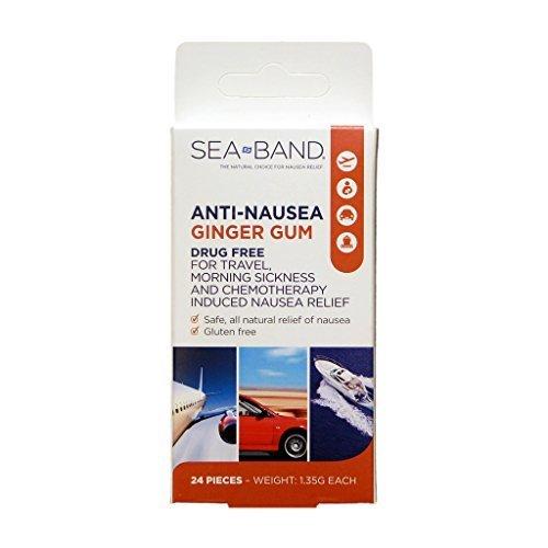 2 Pack Seaband Ginger Gum Anti Nausea Morning Sickness 48 Pc -