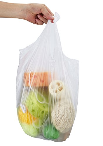 Small Garbage Bags : Feiupe gallon handle clear small trash bag garbage