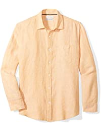 Men's Regular-Fit Long-Sleeve Linen Shirt