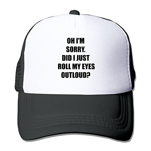 Mesh Sports Baseball Caps Oh I'm Sorry Did I Just Roll My Eyes Out Loud Adjustable Trucker Sun Hats for Running Outdoor
