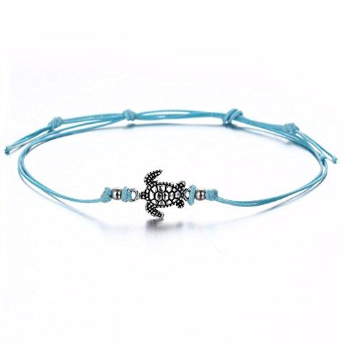 Sinfu® Anklet For 1PC Women's Turtle Beach Foot Chain Anklets Vintage Bracelet Jewelry Charm Ankle Bracelets (Length: 26cm, Blue)