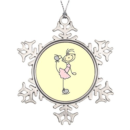 Price comparison product image Christmassnowflake Ornaments Pink Dress Figure Skater and Gifts Pictures Of Decorated Christmas Trees Christmas Snowflake Ornaments