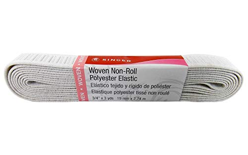 Roll Non Flat (SINGER 70094 Non-Roll Woven Elastic, 3 Yard by 3/4-Inch, Black)
