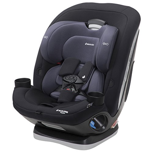 Maxi-COSI Magellan 5-in-1 Convertible Car Seat for Infant, Toddler, Child, with 1-Click Latch and Base, Midnight Slate