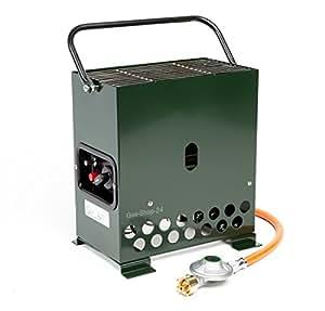 2,2kW Invernadero Calefacción verde/heladas con gas Manguera + Reductor de presión (Gas Calefacción, calefacción, Stand, invernadero, Heat Box camping)