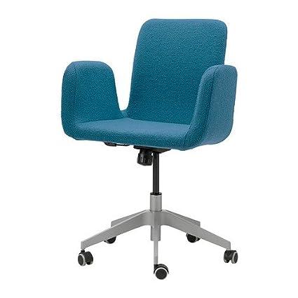 Ikea Patrik - Silla giratoria, Azul Ullevi: Amazon.es: Hogar