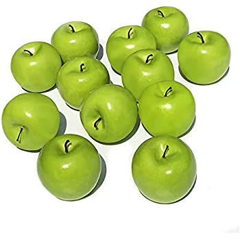 COTOSEY Artificial Green Apples Box of 12