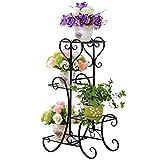 MegaVava 4 Tier Metal Shelves Flower Pot Plant Stand Display Indoor Outdoor Garden Patio Shelf Step