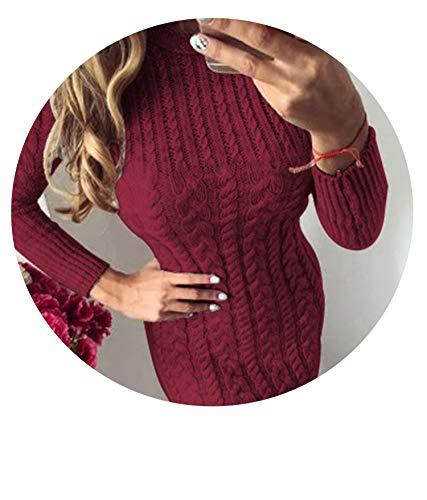 Winter Warm Sweater Slim Bodycon Dress O Neck