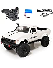 2.4G Full-Scale Pickup Truck Four-Wheel Drive Remote Control Climbing Car,Model Remote Control Toy Truck,The Remote Control Distance is 35 Meters Rc Vehicle,Adult Toys