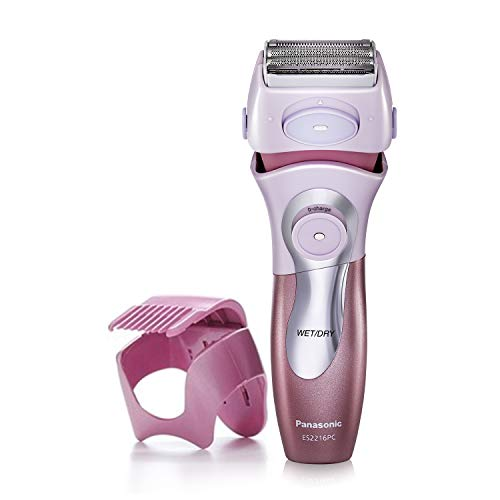 Panasonic Electric Shaver for Women, Cordless 4 Blade Razor, Close Curves, Bikini Attachment, Pop-Up Trimmer, Wet Dry Operation – ES2216PC