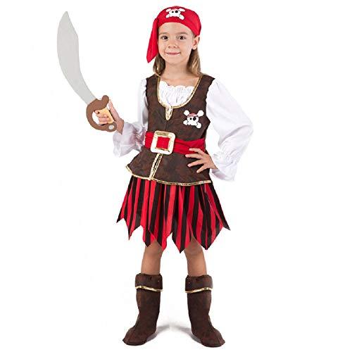 Tween Pirate Cutie Girls Costumes - Spooktacular Creations Deluxe Pirate Girl Costume