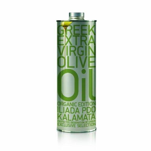 Kalamata Extra Virgin Olive Oil, ORGANIC (Iliada) 500 ml Tin