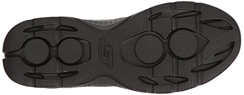 Skechers Go Walk 4, Scarpe da Ginnastica Basse Uomo Black Synthetic Leather