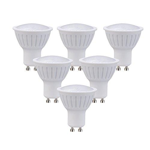 LED Spotlight Bulbs Dimmable 7W Soft White 3000K,630lm,AC/DC 120V 65W Halogen Bulbs Equivalent 120 Degree Beam Angle GU10 Base Standard Size LED Light Bulbs(6 Pack)