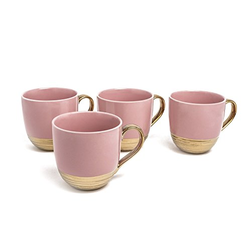 - MUG SET OF 4 Pink/Gold