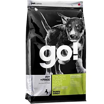 Petcurean Go Fit + Free Puppy Food Chicken Turkey + Trout (25 lb)