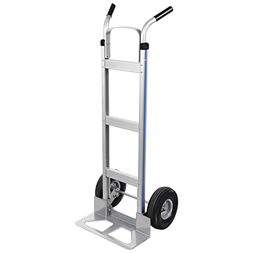 Fashine Large Capacity 500 lbs Heavy Duty Aluminum Dolly Hand Truck Two Wheel Lightweight Travel Shopping Cart by Fashine