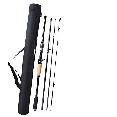 Old street Travel Fishing Rod Carbon Spinning Casting Lure Rod 2.1 2.4 2.7m 3m M Power 4 Sections Rods Vara de Pesca Carp Fishing Pole,White,2.1 m