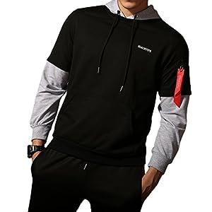 LOGEEYAR Men's Long Sleeve Hoodies Lightweight Hooded Sweatshirt Pullover Outwear