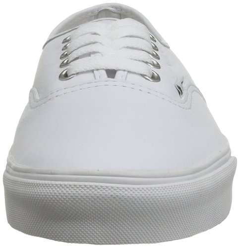 Vans U Authentic, Zapatillas De Deporte Unisex Blanco (Leather Truwht)
