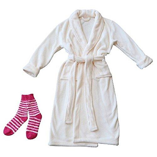 sharper-image-plush-robe-and-socks-set