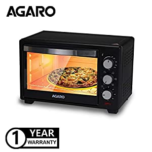 AGARO Marvel 19-Litre Oven Toaster Grill with 5 Heating Modes (Black)