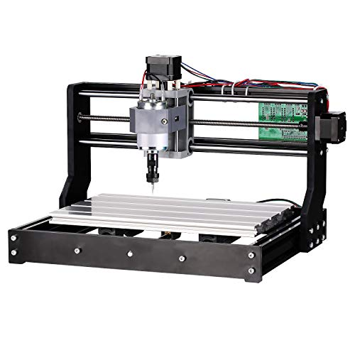 Genmitsu CNC 3018-PRO Router Kit GRBL Control 3 Axis Plastic Acrylic PCB PVC Wood Carving Milling Engraving Machine, XYZ Working Area 300x180x45mm ()