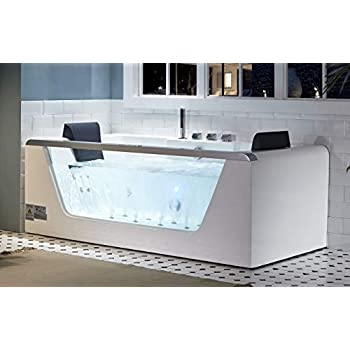 Eago Am196etl 6 Clear Rectangular Acrylic Whirlpool
