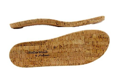 Calzado mujer confort de piel Piesanto 1909 Sandalia Plantilla Extraíble cómodo ancho Negro