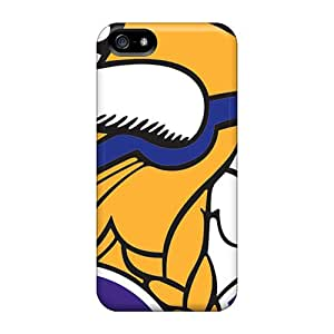Scratch Resistant Hard Phone Cover For Iphone 5/5s (YAi8988fBtu) Allow Personal Design Colorful Minnesota Vikings Image