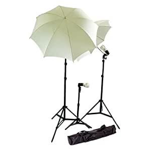 CowboyStudio Photo and Video Studio Umbrella Continuous Lighting Light Kit- 27 feet Stands, 1 Mini Stand and Carry Case