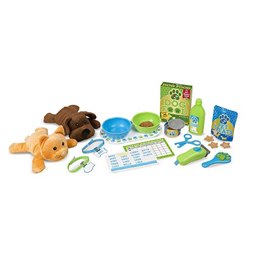 Melissa & Doug Feeding and Grooming Pet Care Play Set
