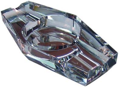Prestige Import Group 2 Cigar Hexagon Crystal Ashtray in Gift Box ASH2C