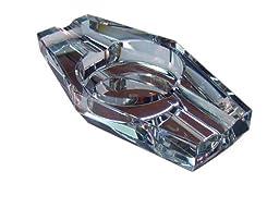 Prestige Import Group 2 Cigar Hexagon Crystal Ashtray in Gift Box