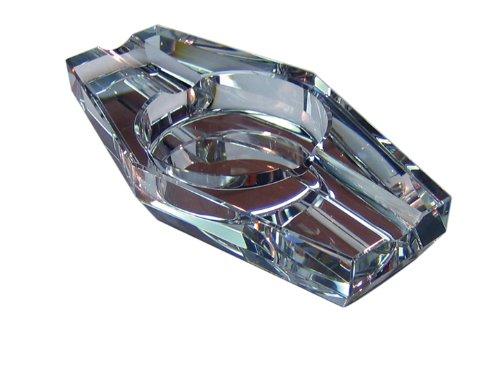 Crystal Cigar Box (Prestige Import Group 2 Cigar Hexagon Crystal Ashtray in Gift Box)