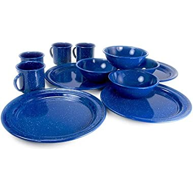 GSI Outdoors Sierra 12 Piece Blue Enable Table Set