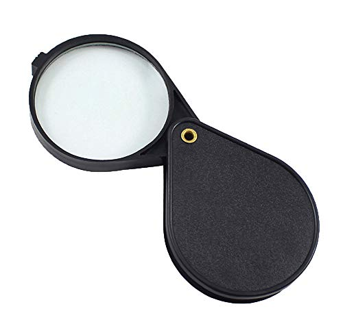 Fan-Ling Folding Mini Pocket Jewelry Magnifier Magnifying Eye Glass Loupe Lens,Magnifying Glass -