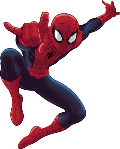 RoomMates RMK1796GM Ultimate Spiderman Peel and Stick Giant Wall Decal (Wall Appliques Man Spider)