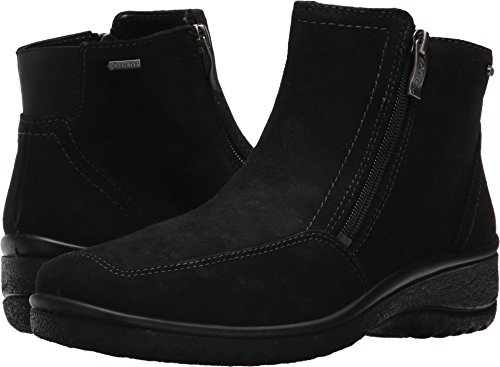 ara Women's Mila Ankle Boot, Black Suede, 9 M US