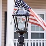 Gama Sonic GS-98B-S-BLK Royal Bulb Lamp Post