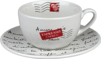 Konitz Coffee Bar Amore Mio No.11A Mugs/Saucers, Set of 2