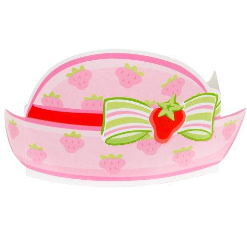 Strawberry Shortcake Paper Party Hats (8ct) (Strawberry Shortcake Hat)