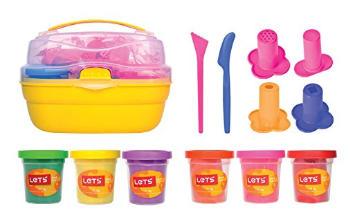 Minel Let's Natural Play Dough Bucket - Syringes and Dough