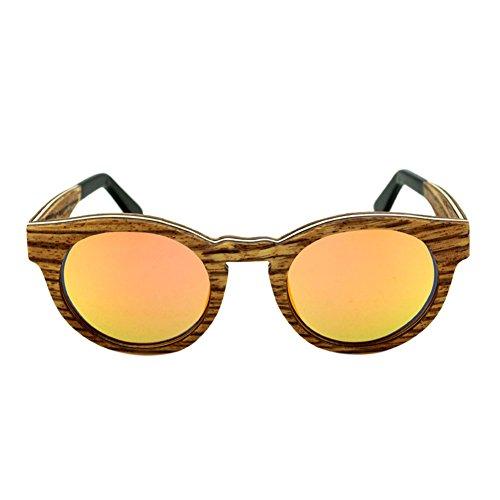 de RevêteHommest Meijunter Resin protection UV400 Polarisé de Unisexe soleil Orange Eyewear lunettes Des Bois Lunettes Lentilles Real 1AqPw1z