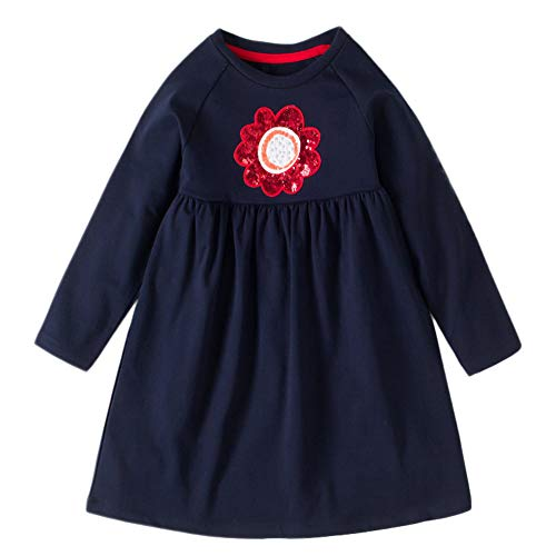 Toddler Girl Dresses Jumpsuit For Baby Girl Clothes For Girls Rompers,Clothes For Girls Size 10 12 Rompers For Girls Clothes For Baby Girls Gifts For Mom❤,❤Dark Blue❤,❤Age:5 Years ❤Label Size:5T from Lurryly
