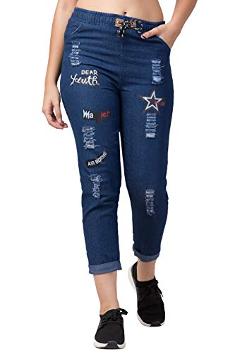 Women's Relaxed Fit Denim Jogger Pant
