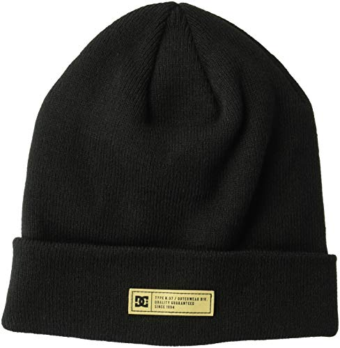 DC Men's Label 2 Beanie, Black, One Size from DC