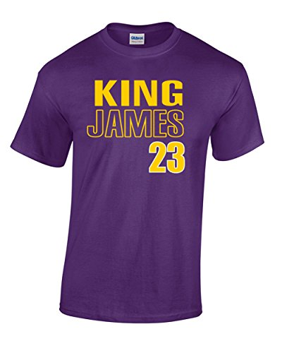 "Price comparison product image Purple Los Angeles Lebron King 23"" T-Shirt Adult"