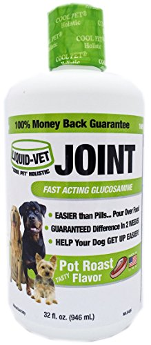 Liquid-Vet Joint Formula – Fast Acting Glucosamine for Joint Aid in Canines – Pot Roast Flavor – Economy Size – 32 Fluid Ounces by Liquid-Vet by COOL PET Holistics (Image #5)